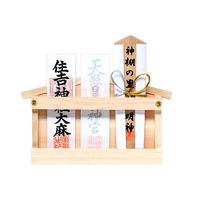 静岡木工 神棚の里 札差し 幅214×奥行30×高さ364mm 白木 1個(直送品)