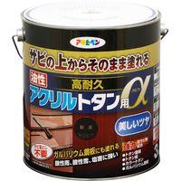 アサヒペン AP 油性高耐久アクリルトタンα 3KG 新茶 9018272(直送品)