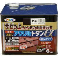 アサヒペン AP 油性高耐久アクリルトタンα 6KG 新茶 9018282(直送品)