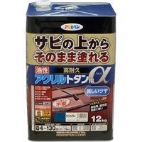 アサヒペン AP 油性高耐久アクリルトタンα 12KGオーシャンブルー 9018289(直送品)