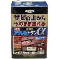 アサヒペン AP 油性高耐久アクリルトタンα 12KG グレー 9018292(直送品)