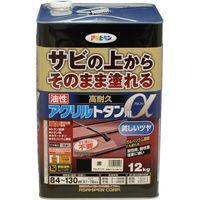 アサヒペン AP 油性高耐久アクリルトタンα 12KG 黒 9018296(直送品)