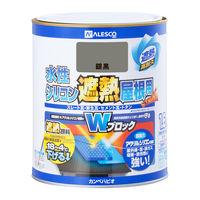 水性シリコン遮熱屋根用 銀黒 1.6L #00377655501016 カンペハピオ(直送品)