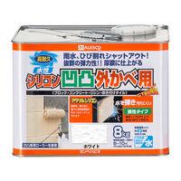 水性シリコン凹凸外かべ用 ホワイト 8K #00437654013080 カンペハピオ(直送品)