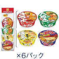 まめバラエティパック4P 1箱(24食:4色×6パック) 東洋水産