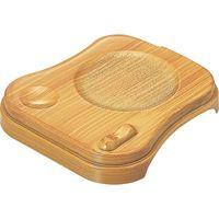 福井クラフト 瓢型茶碗蒸し台 白木 A 1セット(5入)(直送品)