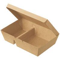 シンメイ ペーパーランチボックス仕切付中 1セット(200枚:50枚入×4袋)