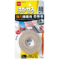 ニトムズ はがせる両面テープ 強力接着用 幅15mm×10m T3830 1セット(3巻:1巻×3)
