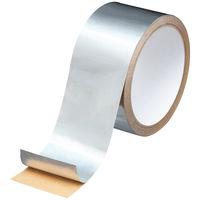 アスクル 「現場のチカラ」 アルミテープ 光沢あり 幅50mm×10m巻  1セット(5巻:1巻×5)