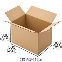 【120サイズ】 「現場のチカラ」 無地ダンボールCライナー 外寸:幅500×奥行360×高さ330mm 1梱包(20枚入)