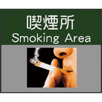 サインマット 喫煙所 75x90cm BE00010 クリーンテックス・ジャパン (直送品)