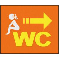 サインマット WC_女 75x90cm BE00016 クリーンテックス・ジャパン (直送品)
