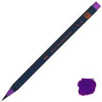 あかしや 筆ペン CA200-08 水彩毛筆「彩」紫色 5本(直送品)