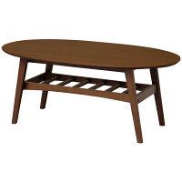 市場 emo(エモ)リビングテーブル(サーフ)/センターテーブル 幅1000×奥行500×高さ400mm ブラウン 1台 (直送品)
