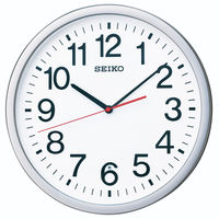 SEIKO(セイコークロック) オフィスタイプ 電波 掛け 時計 KX229S 1個 (直送品)