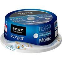 ソニー 録音用CDーRオーディオ 80分 手書もできるホワイトワイドプリンタブル 30枚スピンドル 30CRM80HPWP 1式  (直送品)