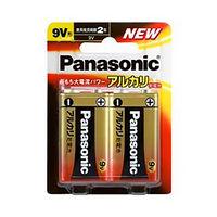 パナソニック アルカリ乾電池 9V形 2本ブリスターパック 6LR61XJ/2B 1個  (直送品)