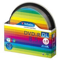 三菱化学メディア DVDーR DL 8.5GB PCデータ用 8倍速対応 10枚スピンドルケース入り ワイド印刷可能 DHR85HP10SV1  (直送品)