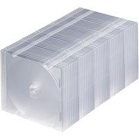 サンワサプライ DVD・CDケース(50枚セット・クリア) FCD-PU50C 1個  (直送品)