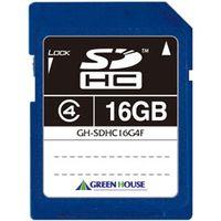 グリーンハウス SDHCメモリーカード クラス4 16GB GH-SDHC16G4F 1本  (直送品)