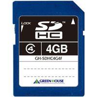 グリーンハウス SDHCメモリーカード クラス4 4GB GH-SDHC4G4F 1本  (直送品)