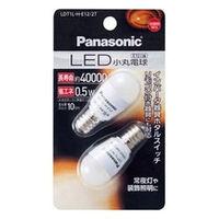 パナソニック LED小丸電球 0.5W 2個入(電球色相当) LDT1LHE122T 1個(直送品)