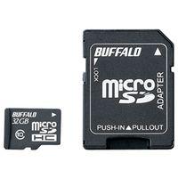 バッファロー Class10 microSDHCカード SD変換アダプター付 32GB RMSD-32GC10AB 1台  (直送品)