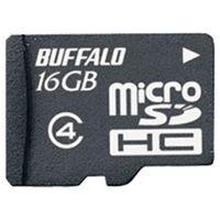 バッファロー 防水仕様 Class4対応 microSDHCカード 16GB RMSD-BS16GB 1台  (直送品)