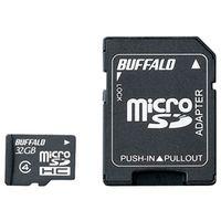 バッファロー 防水仕様 Class4対応 microSDHCカード SD変換アダプター付モデル 32GB RMSD-BS32GAB 1台  (直送品)