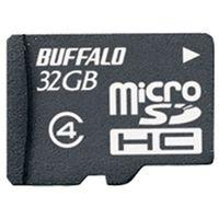 バッファロー 防水仕様 Class4対応 microSDHCカード 32GB RMSD-BS32GB 1台  (直送品)