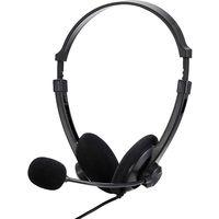 バッファロー 両耳ヘッドバンド式ヘッドセット USB接続 ブラック BSHSUH12BK 1台  (直送品)