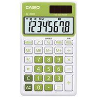 カシオ計算機 カラフル電卓 手帳タイプ 8桁 リーフグリーン SL-300B-GN-N 1個  (直送品)