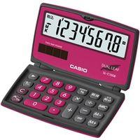 カシオ計算機 カラフル電卓 折りたたみ手帳タイプ 8桁 ベリーピンク SL-C100B-BR-N 1個  (直送品)