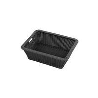 サンフラワーラタン 丸洗いできる脱衣カゴ ブラック GK127PBK 1個(直送品)