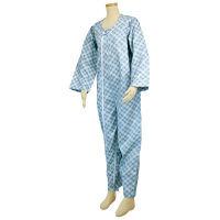 幸和製作所 テイコブエコノミー上下続き服 (介護用パジャマ) サックス L UW01 (直送品)