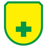 加藤商店 ワッペン 緑十字 緑枠 黄無地 WPN-188 1セット(10個)(直送品)