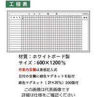 加藤商店 ホワイトボード 工程表 600×1200 KKW-B25 1枚 (直送品)