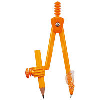 クツワ コンパス 鉛筆用(オレンジ) CP211OR 5個 (直送品)