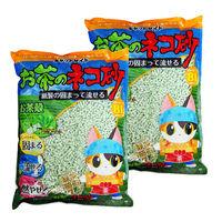 キャットセイドお茶の猫砂紙製の固まって流せる 8L 2袋