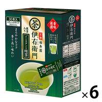 宇治の露製茶 伊右衛門 香味厳選 抹茶入りインスタント緑茶 1セット(180本:30本入×6箱)