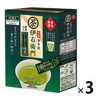 宇治の露製茶 伊右衛門 香味厳選 抹茶入りインスタント緑茶 1セット(90本:30本入×3箱)
