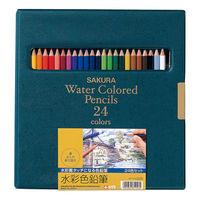 サクラクレパス 水彩色鉛筆24色 EPY24 1個 (直送品)