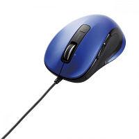 エレコム 有線マウス M-LS15DLシリーズ ブルー レーザー式/5ボタン/横スクロール対応 M-LS15ULBU (直送品)