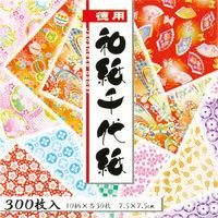 トーヨー 徳用和紙千代紙 7.5cm 300枚入 018034 2冊 (直送品)