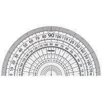 レイメイ藤井 見やすい白黒分度器 白 9cm APJ151W 10個(直送品)