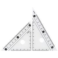レイメイ藤井 見やすい白黒三角定規 白 10cm APJ251W 5個 (直送品)