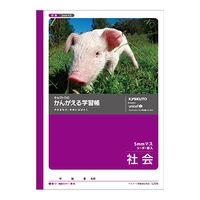 キョクトウ・アソシエイツ かんがえる学習帳 社会5mmマス L225 10冊 (直送品)