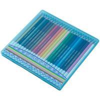 レイメイ藤井 先生オススメ 色鉛筆24色 ブルー RE141 1個 (直送品)