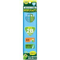 レイメイ藤井 三角かきかた鉛筆2B(6本入)ブルー RE306 5個 (直送品)