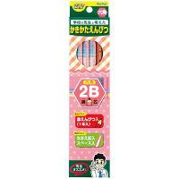 レイメイ藤井 先生オススメ かきかた鉛筆2B(鉛筆11本+赤鉛筆1本)ピンク RE646 5箱(12本入×5箱)(直送品)